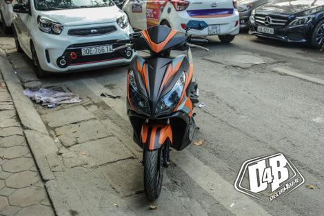 air blade 2014 phối màu cam đen 2