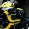 cbr 150 yellow on black