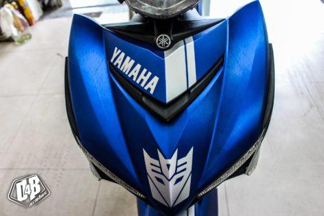 exciter 150 blue transformer nhôm xước 3