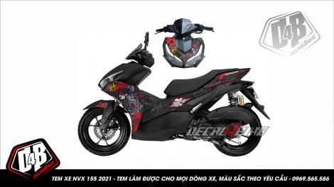 nvx21000009 yamaha nvx 2021 geisha dragon