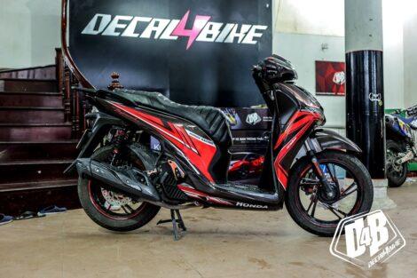 sh400040 honda sh 2017 red black