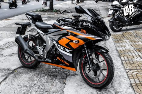 suzuki gsx r150 cam xám đen 3